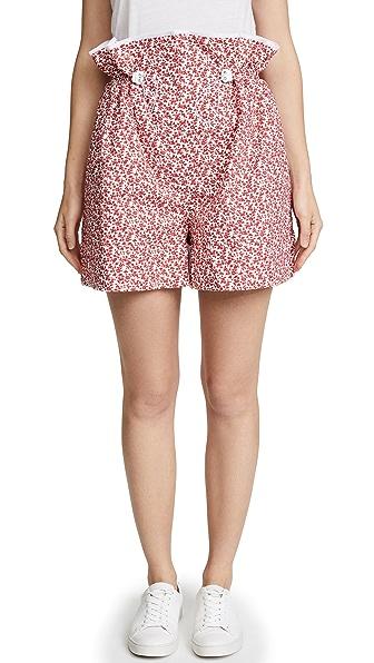 MARIANNA SENCHINA Printed Shorts in Red Print
