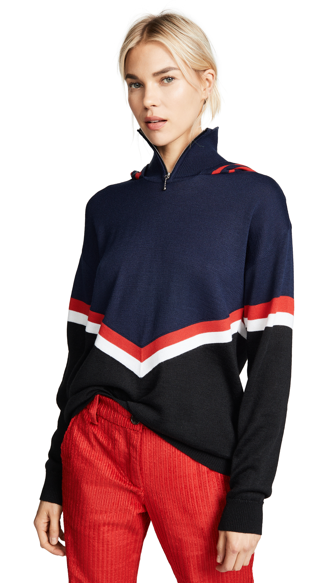 MARIANNA SENCHINA Turtleneck Sweater in Dark Blue