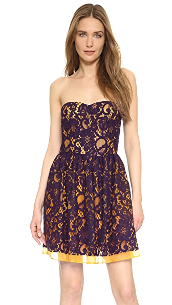 MSGM Strapless Dress