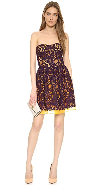 MSGM Strapless Dress