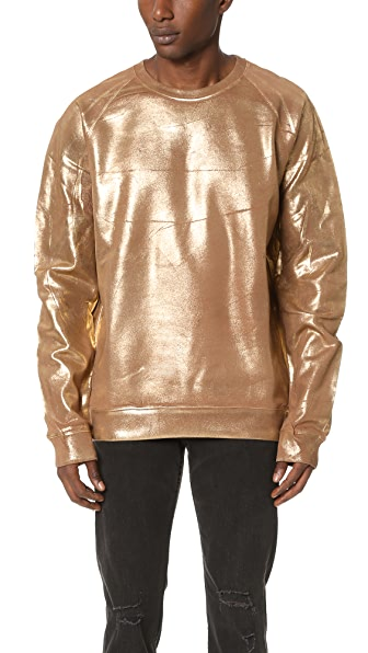 MSGM Gold Sweatshirt