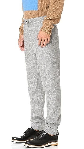 MSGM Elastic Waist Trousers