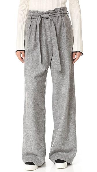 MSGM Шерстяные брюки с завязками