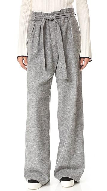 MSGM Wool Tie Pants