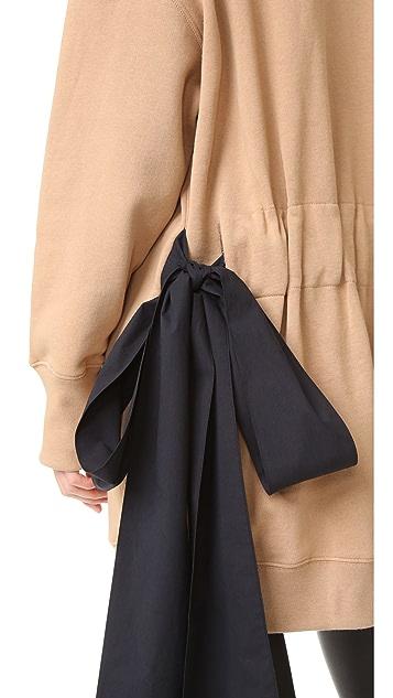 MSGM Hooded Sweatshirt with Side Ties