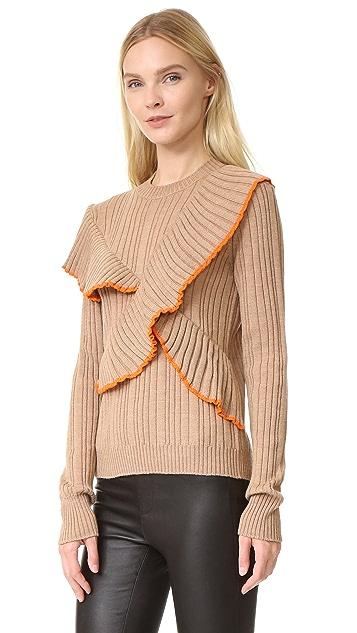 MSGM Long Sleeve Ruffle Pullover