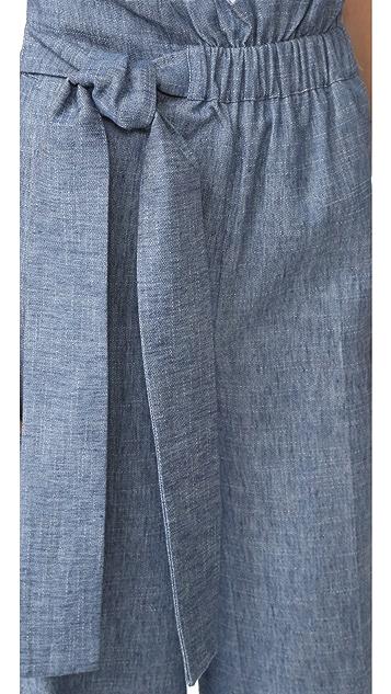 MSGM Chambray Wide Leg Pants