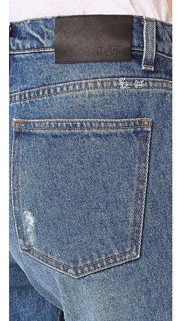 MSGM Floral Front Jeans