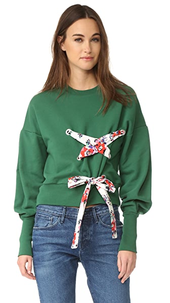 MSGM Crisscross Sweatshirt