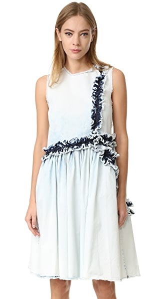 MSGM Denim Ruffle Dress