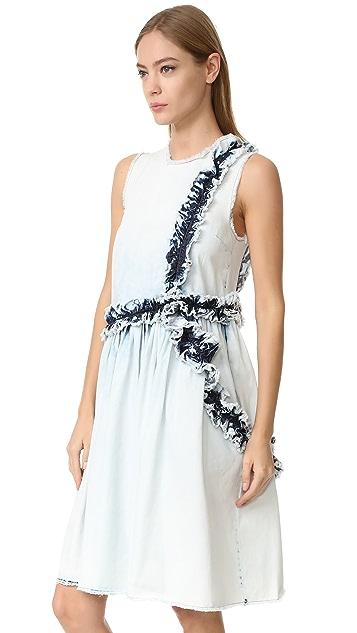 MSGM Denim Ruffle Dress