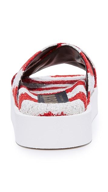 MSGM Crisscross Wrap Sandals