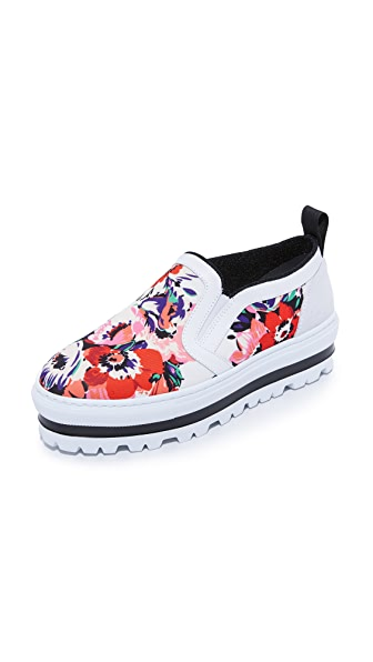 MSGM Slip On Sneakers - Floral Red Multi
