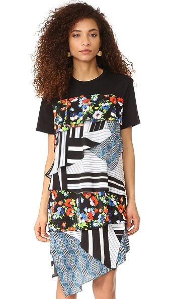 MSGM Платье с комбинированным принтом