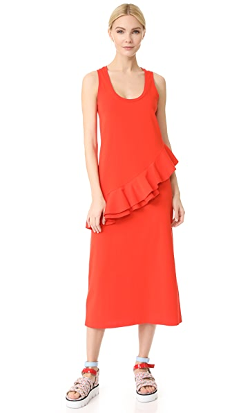 MSGM Asymmetrical Tank Dress - Red