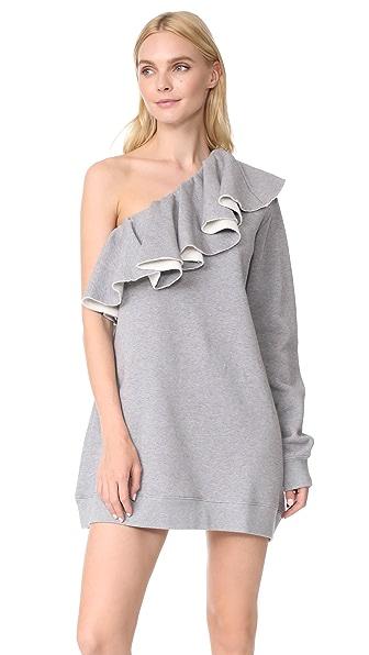MSGM Sweatshirt Dress - Heather Grey