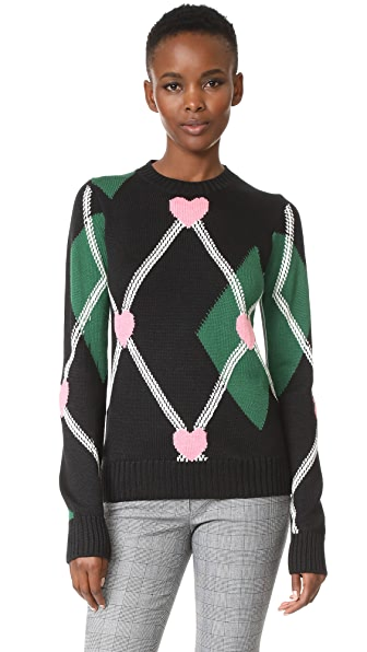 MSGM Crew Sweater - Green