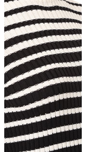 MSGM Stripe Ribbed Sweater