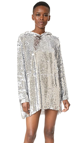 MSGM Sequin Hoodie Dress