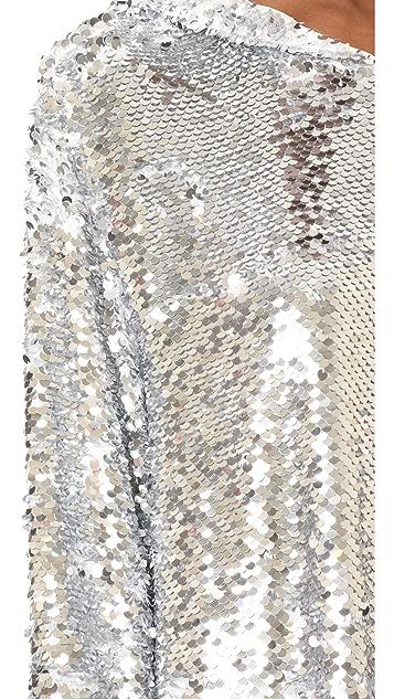 MSGM Sequin Hoodie Dress