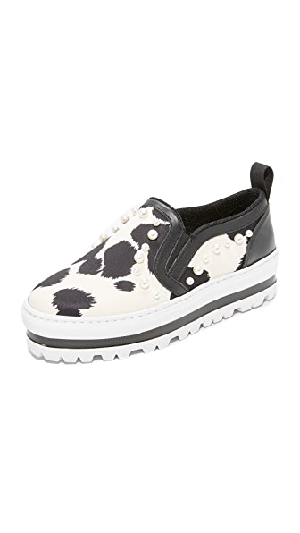 MSGM Wedge Slip On Sneakers
