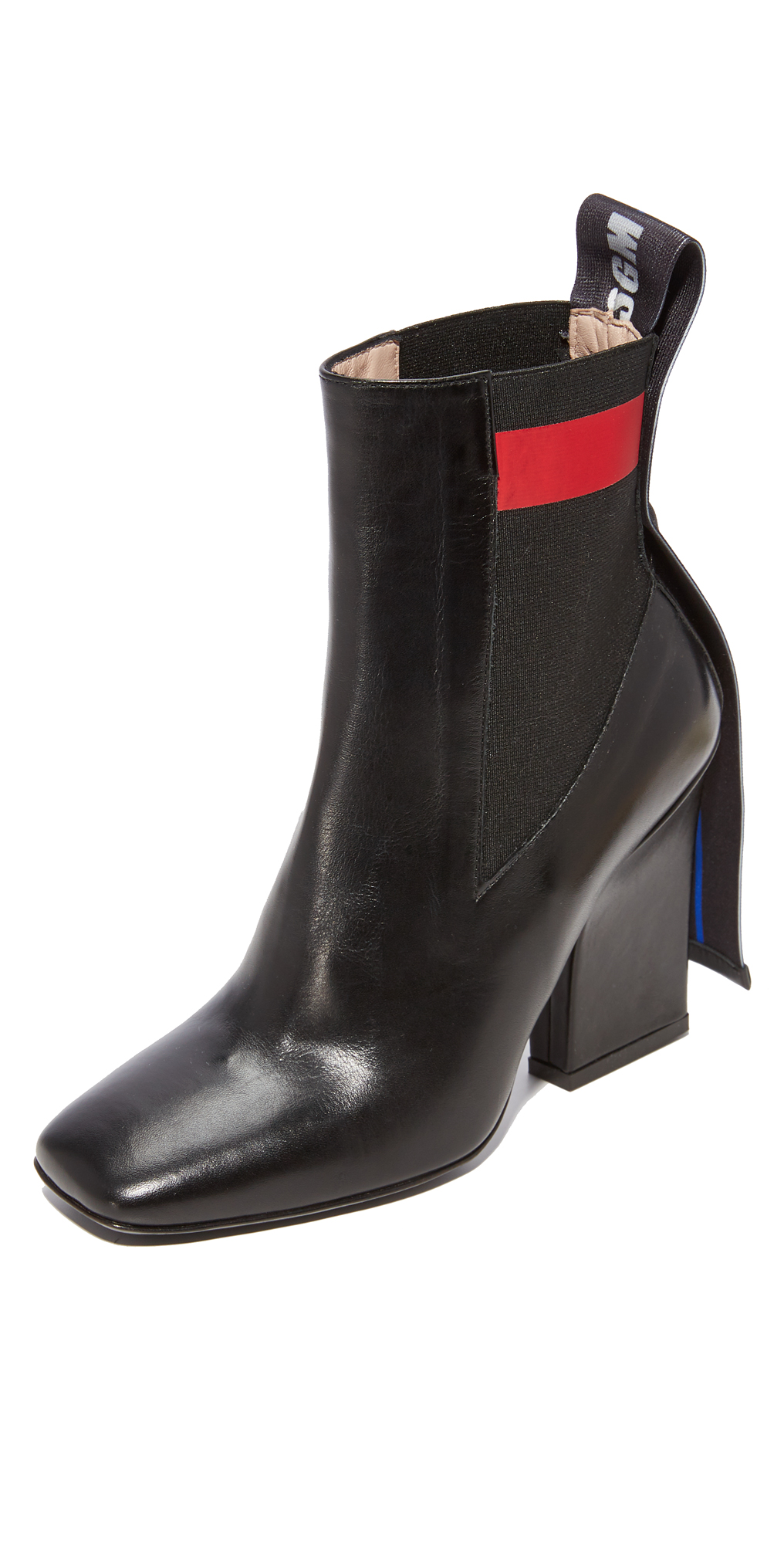 Striped Band Chelsea Boots MSGM