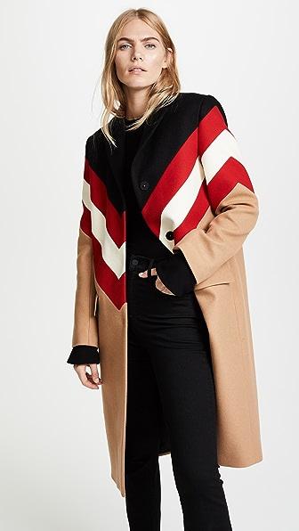MSGM Wool Chevron Coat