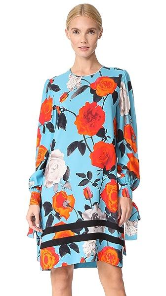 MSGM Rose Print Dress