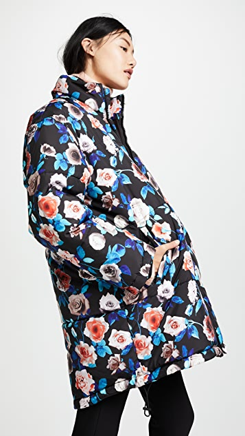 MSGM Floral Puffer Jacket