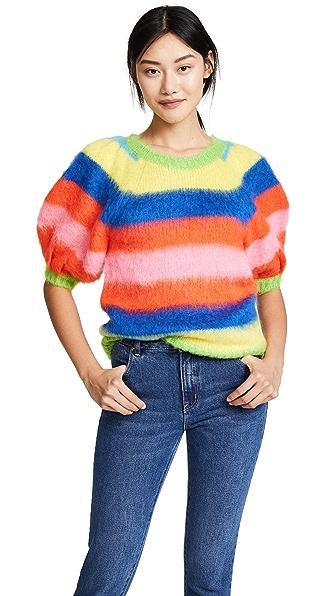 MSGM Stripe Mohair Sweater