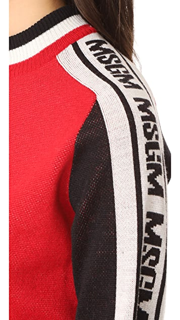MSGM MSGM Logo Arm Pullover