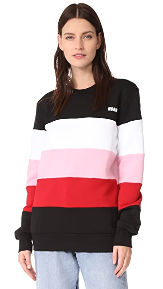 MSGM Stripe Sweater - Black Multi