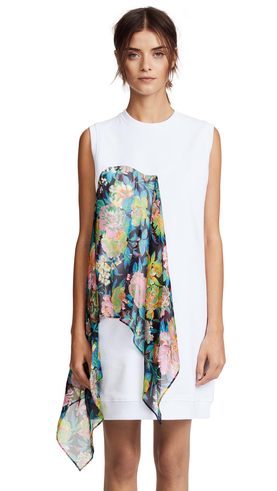 MSGM Combo Sweatshirt Dress