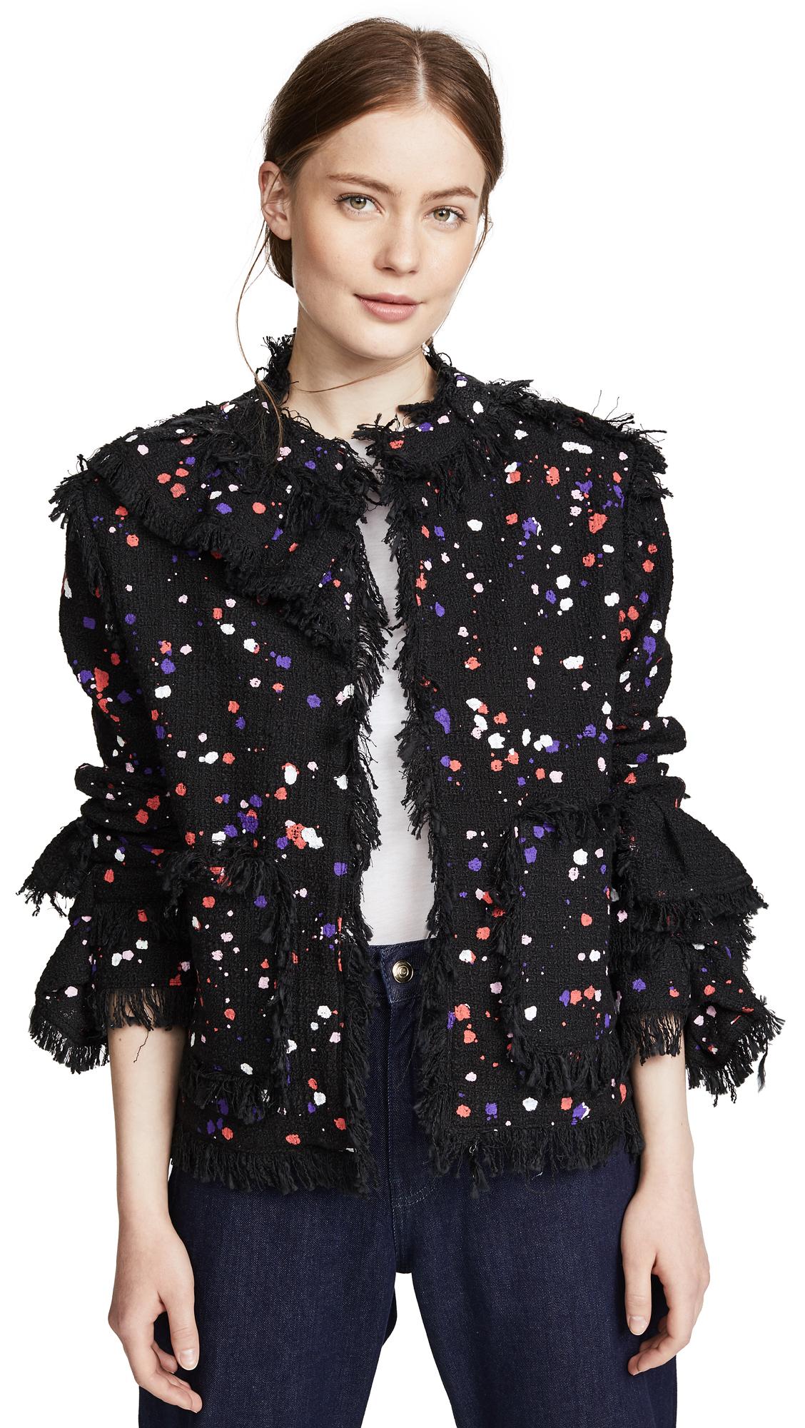 MSGM Tweed Jacket - Black