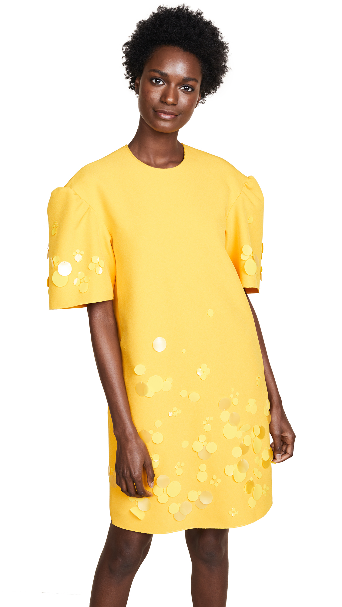 MSGM Cady Dress In Mustard