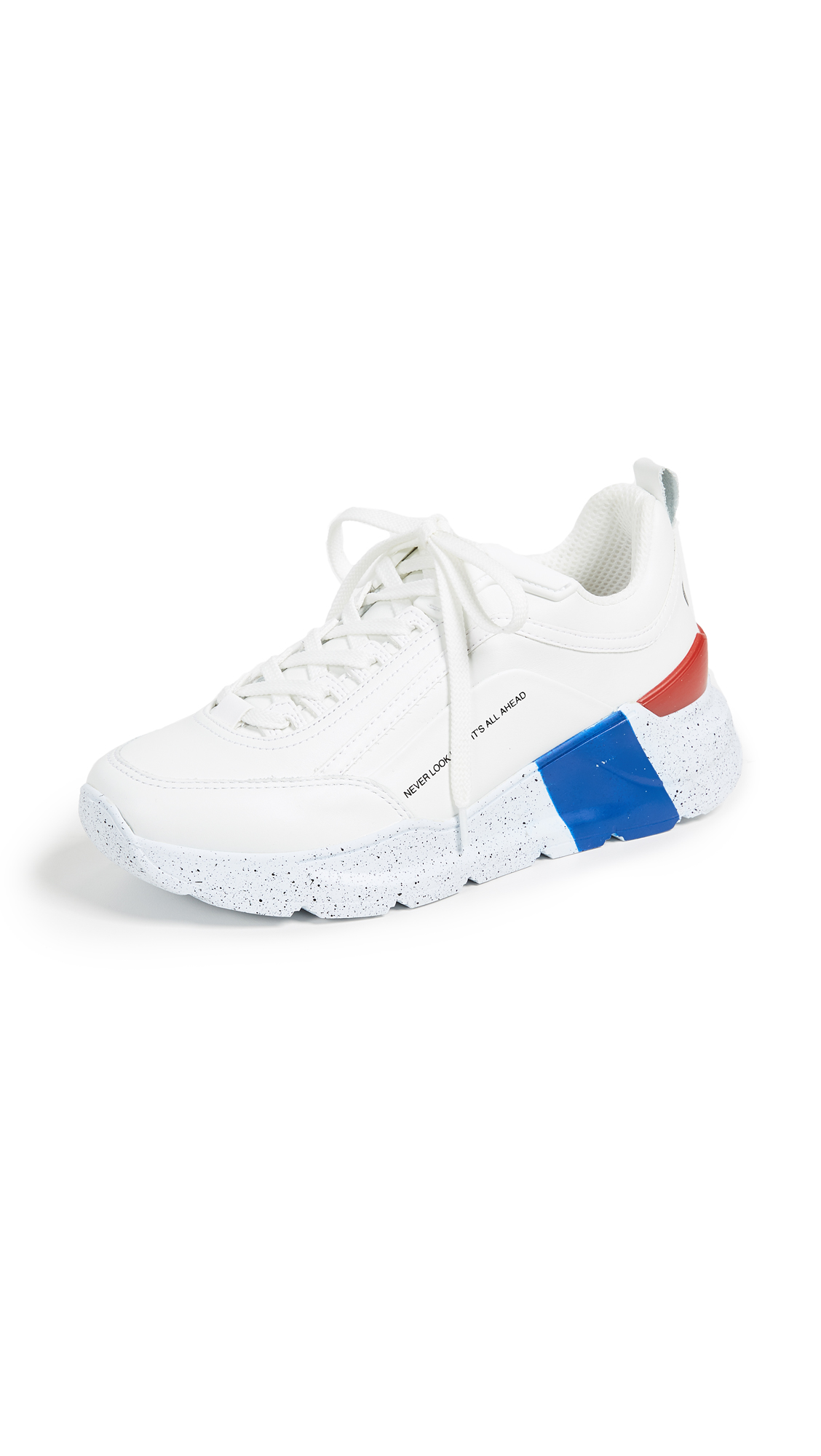 MSGM Hiking Trainer Sneakers - Optical White/Red/Blue