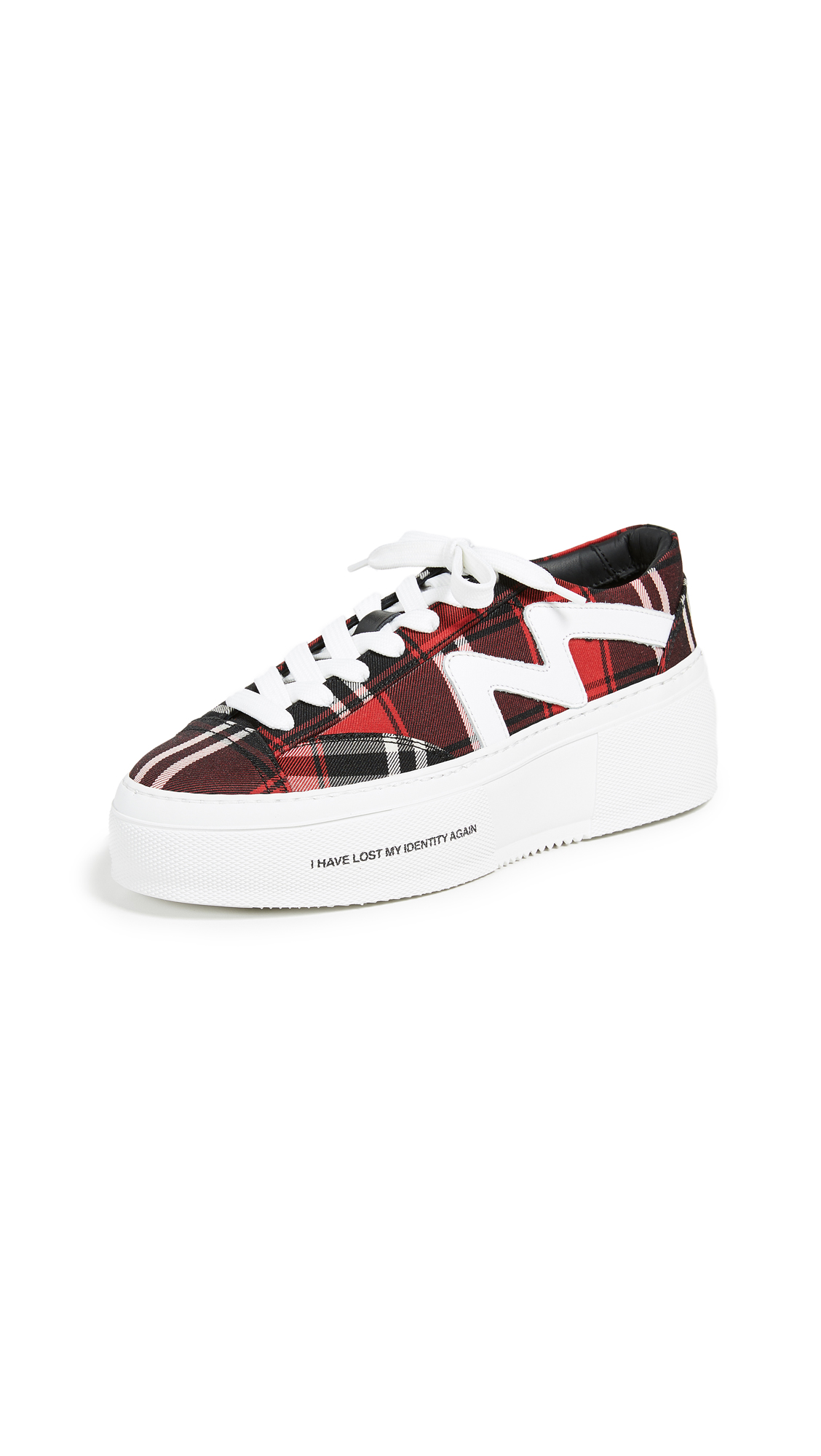 Lace Up Cupsole Sneakers in Red