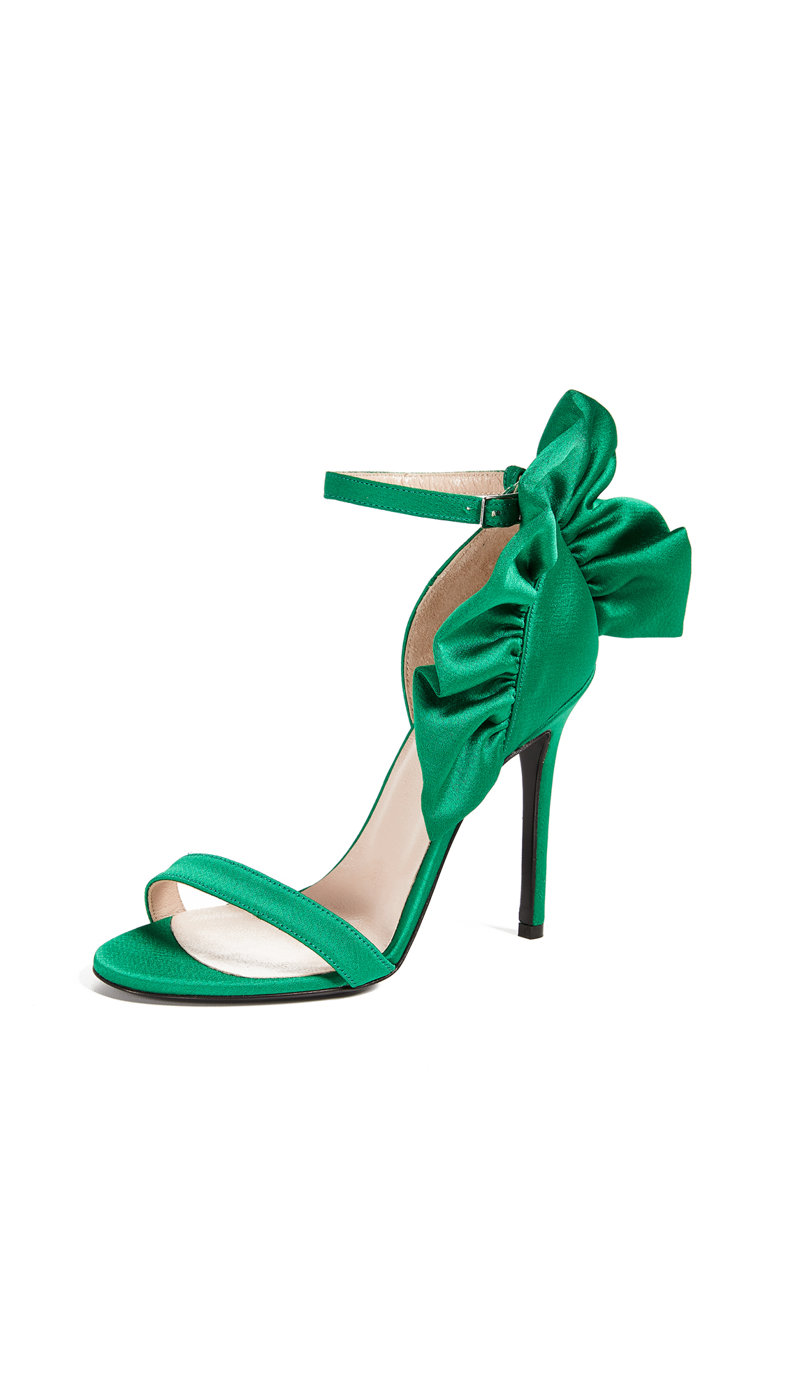 MSGM Rouche Sandals In Green