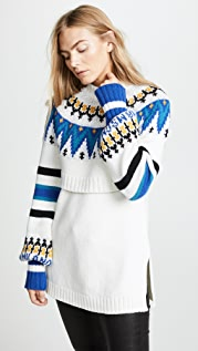 MSGM Fair Isle Sweater