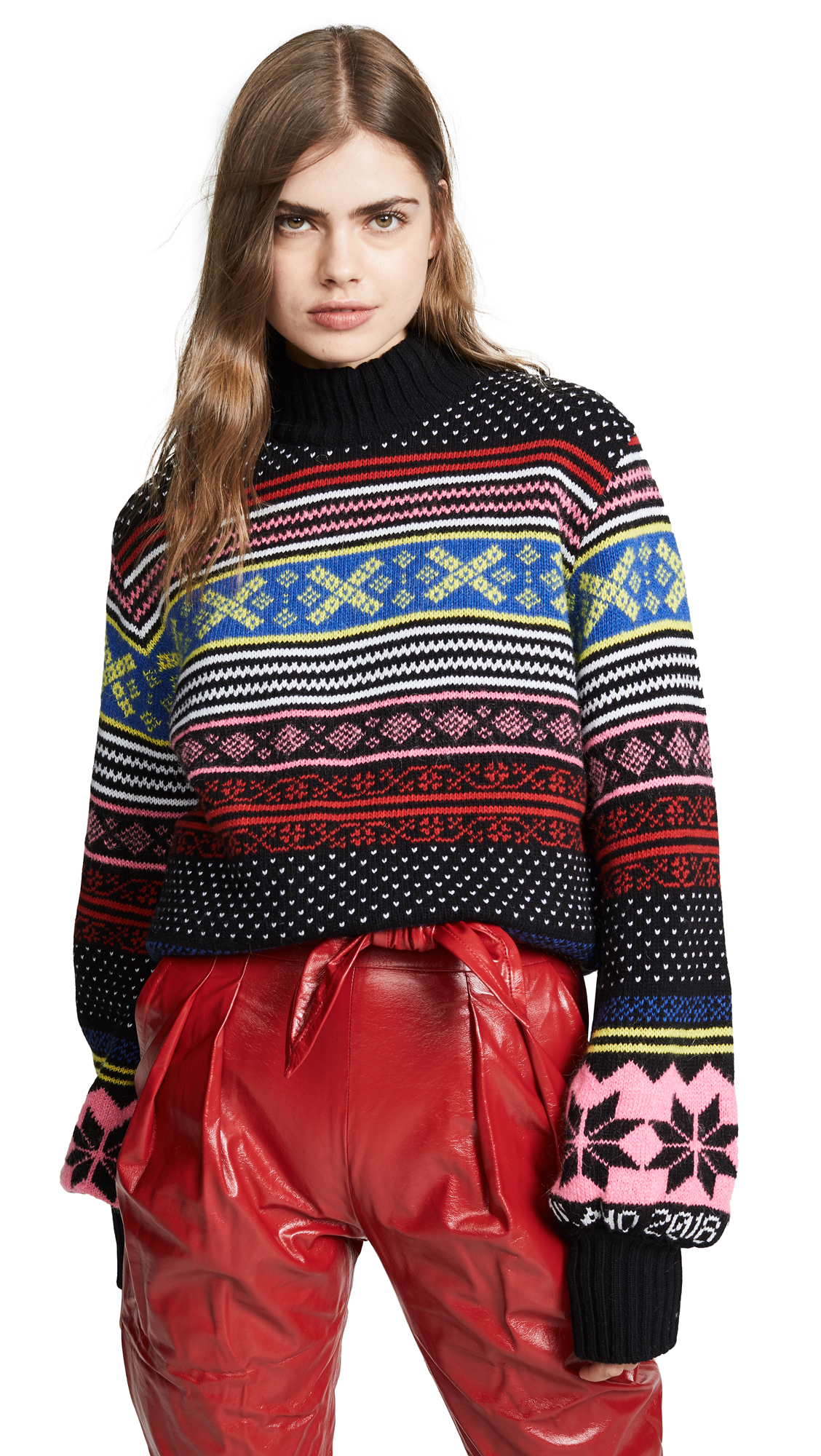 Wool And Mohair-Blend Sweater, Multi Fair Isle
