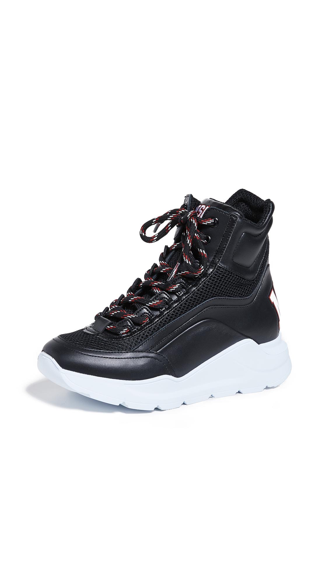 MSGM Hi-Top Z Running Sneakers - Black