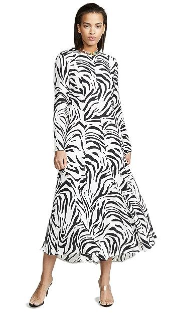 MSGM Zebra Maxi Dress