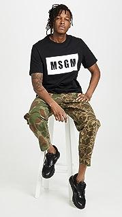 MSGM MSGM Box Logo Tee