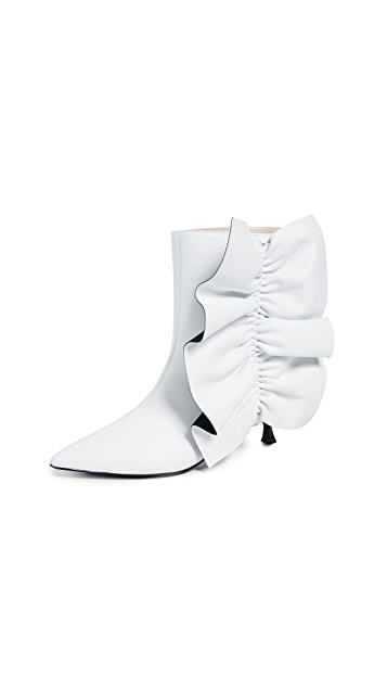 Photo of  MSGM Ruches Twiggy Boots- shop MSGM Boots, Flat online sales