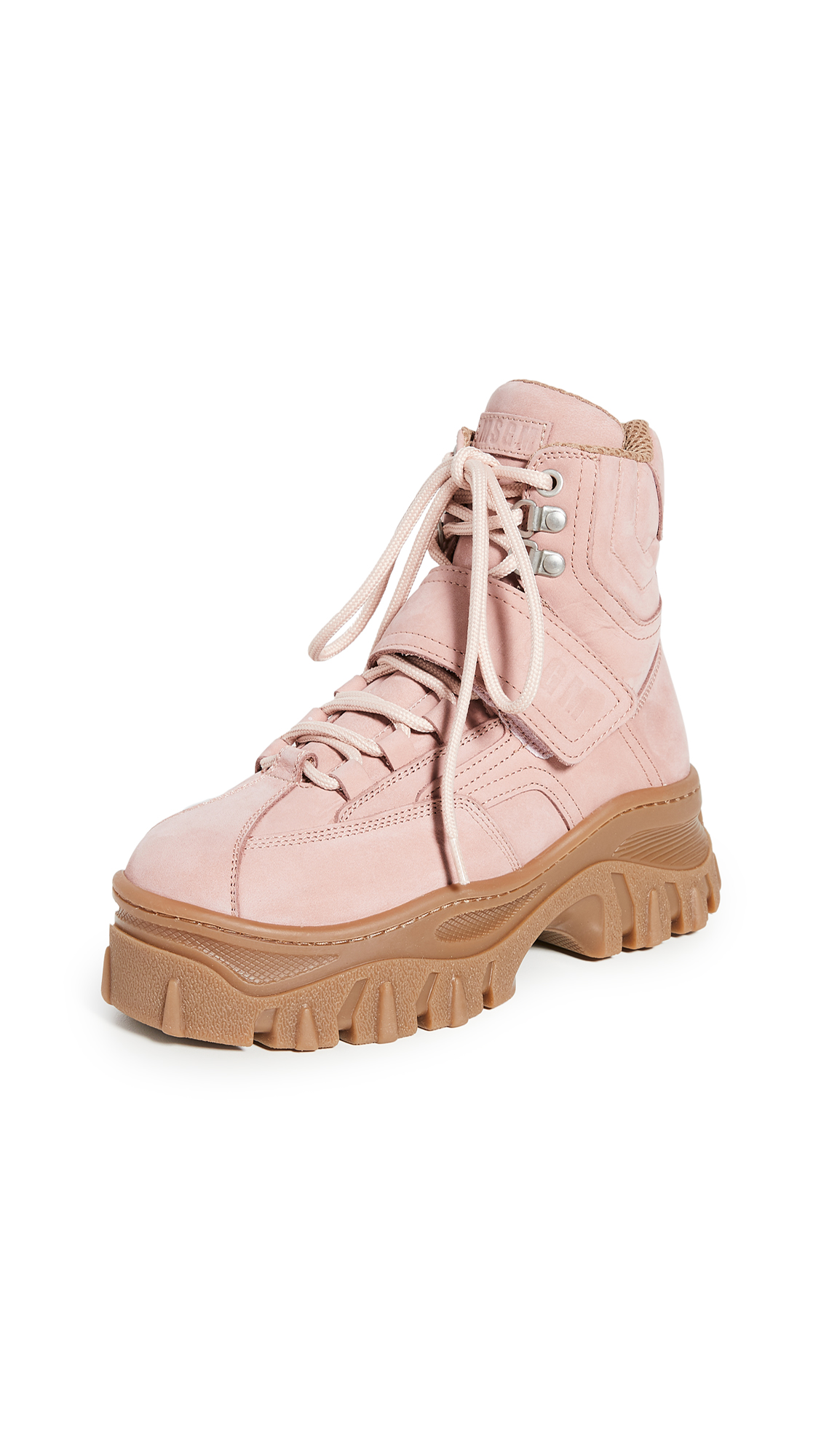 Buy MSGM online - photo of MSGM Chunky Strap Sneaker Boots