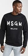 MSGM MSGM Milano Logo Crew Neck Sweatshirt