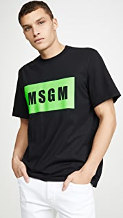 MSGM MSGM Big Box Logo Tee Shirt