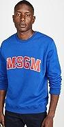 MSGM MSGM Collegiate Logo Crew Neck Sweatshirt