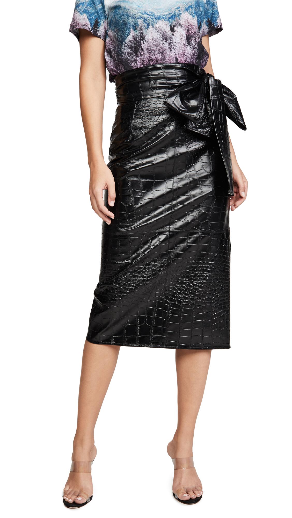 Buy MSGM online - photo of MSGM Waist Tie Midi Skirt