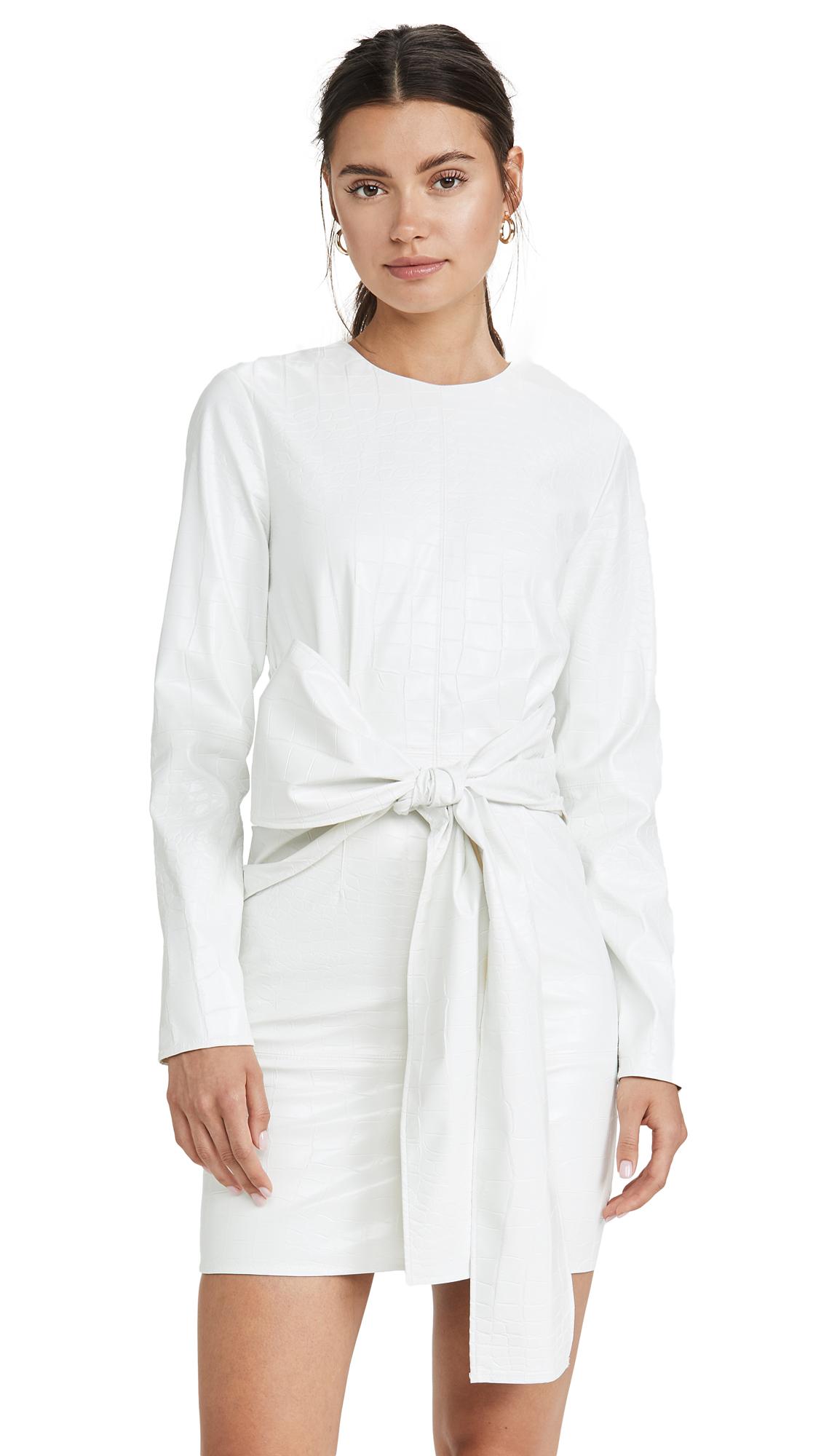 Buy MSGM online - photo of MSGM Waist Tie Dress